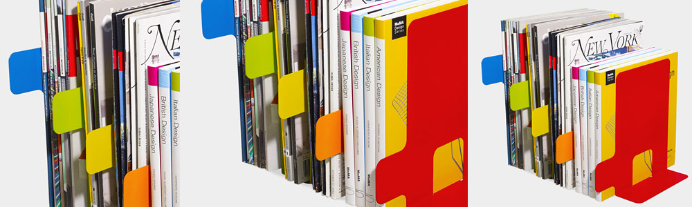 Indice Bookends MoMa designer bookends dividers