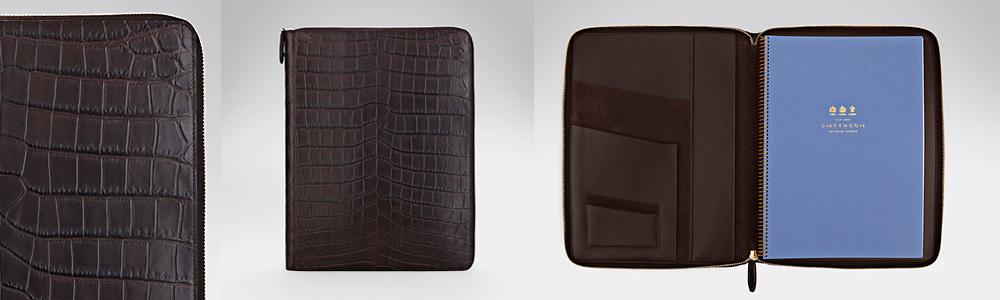 Smythson folio designer Uk leather