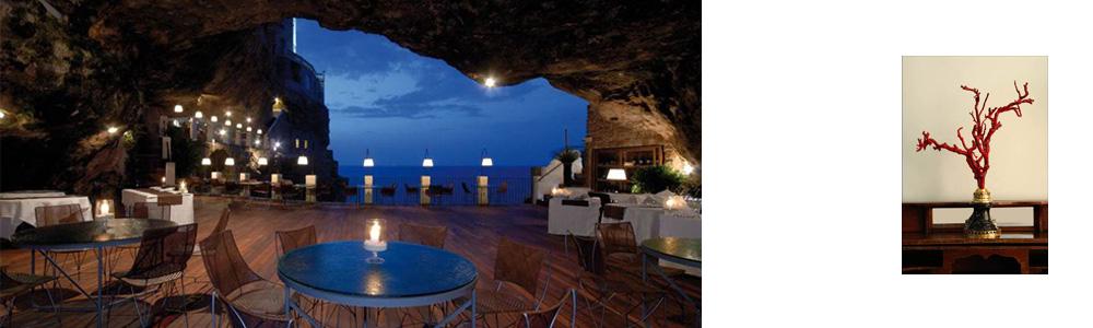 Grotta Palazzese Polignano A Mare hotel and restaurant design grotto
