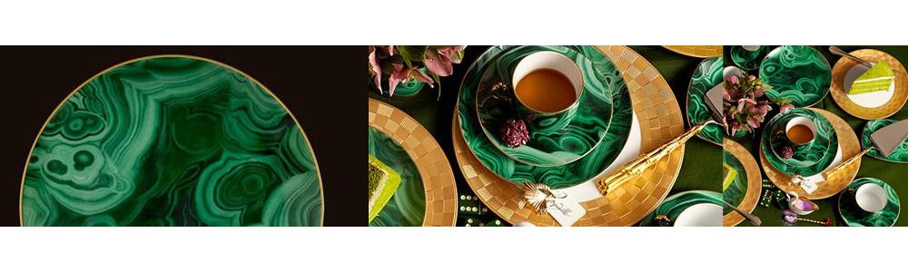 malachite plate l'objet lobjet designer dinnerware