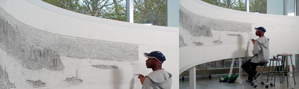 Stephen Wiltshire drawings sketch New York
