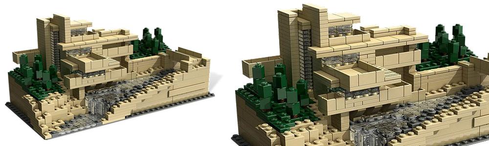 Lego Frank Lloyd Wright Falling Water