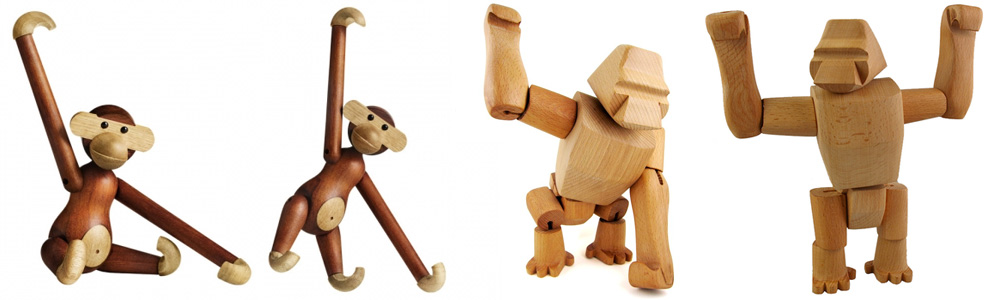 Kay Bojesen Wooden Monkey David Weeks Hanno the Gorilla